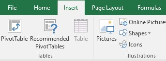 Insert a pivot table