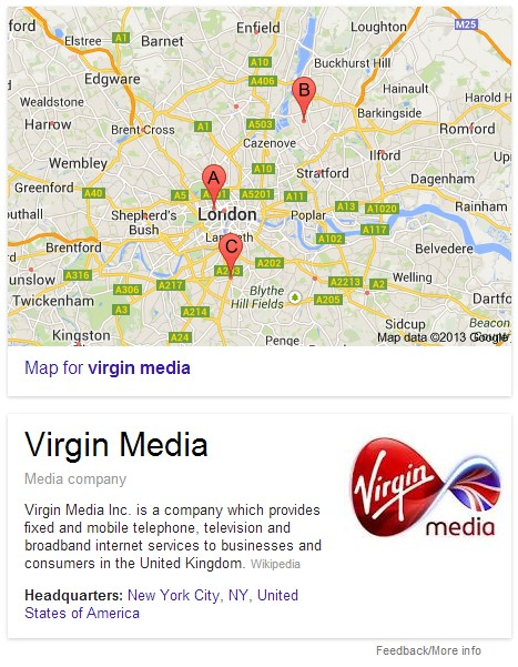 Virgin media maps