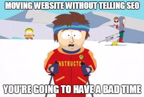 Cool ski instructor site migration meme