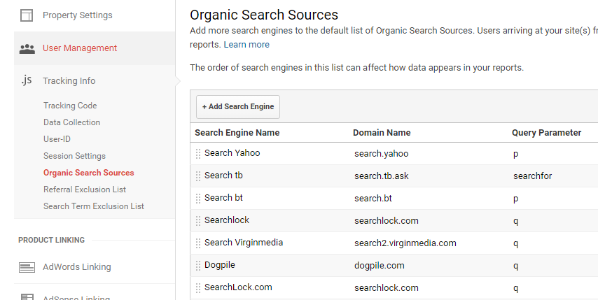 Custom Search Engine Google Analytics