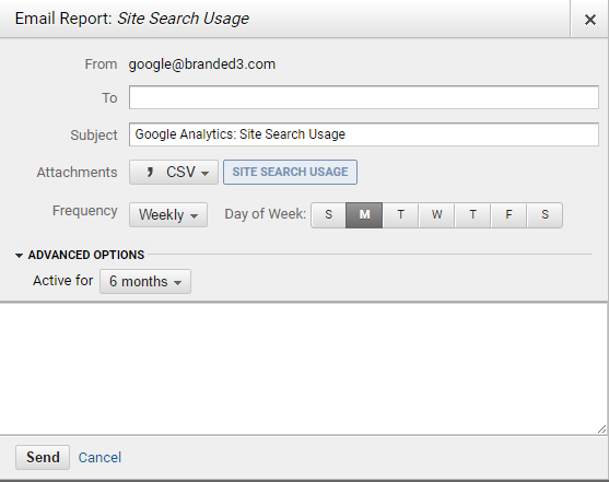 Google Analytics Email SChedule