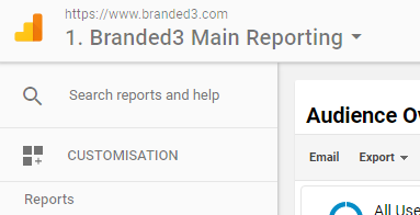 Google Analytics Search Reports