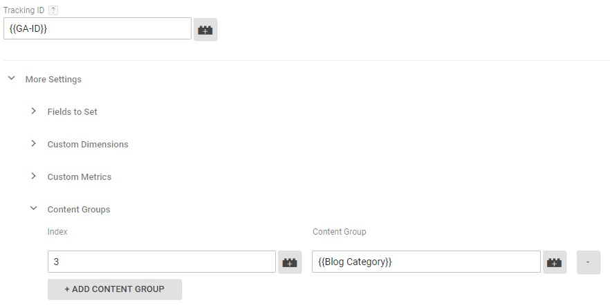 Content groups in Google Analytics