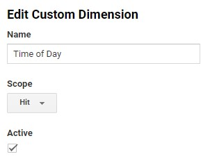 Google Analytics custom dimension