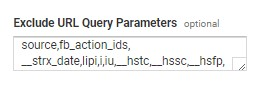 Excluding query parameters in Google Analytics