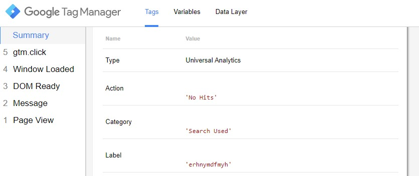 Google Tag Manager Event Category