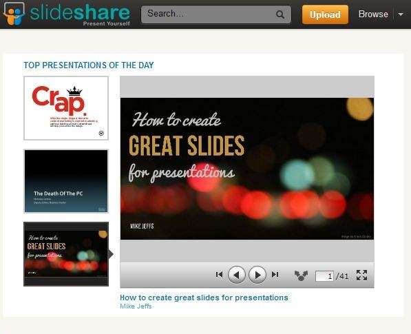 Top Slideshare presentation of the day - Mike Jeffs, Branded3
